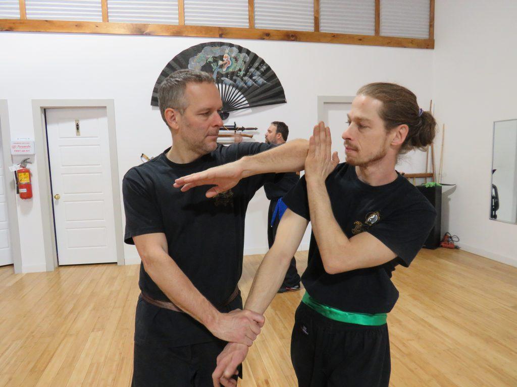 Technique deWing Chun Kung Fu avec partenaire